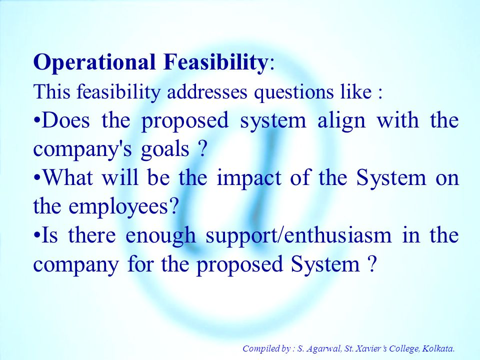 Operational Feasibility: