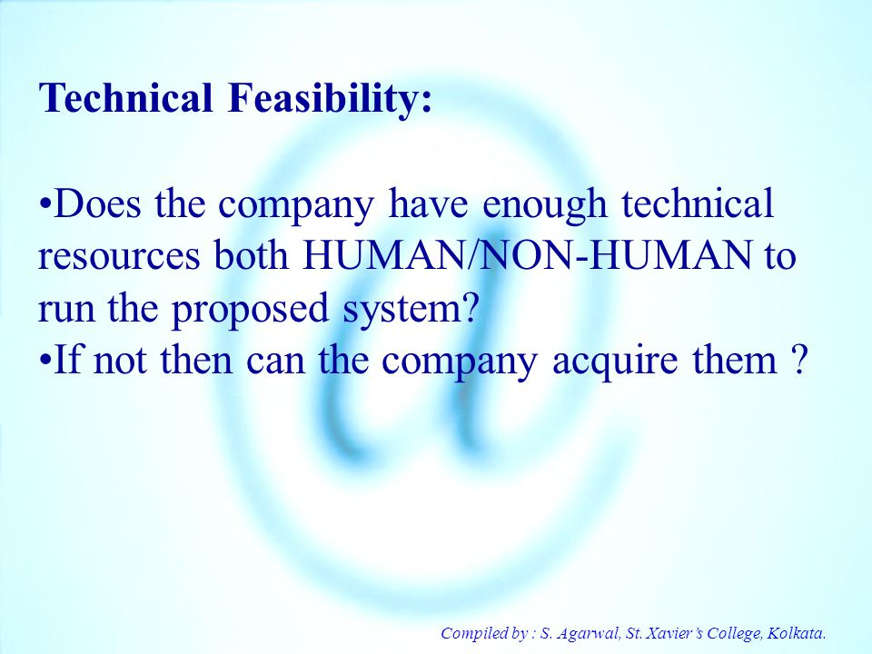 Technical Feasibility: