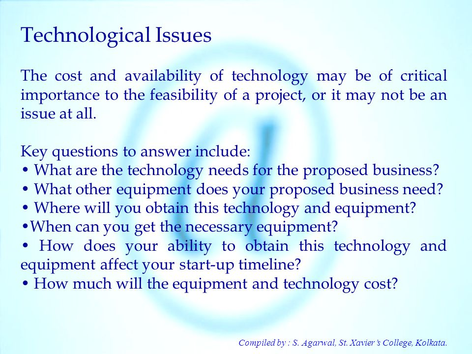 Technological Issues
