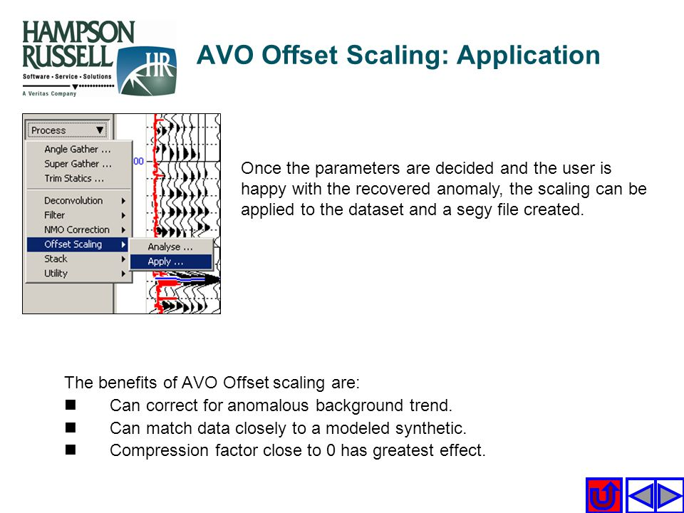 AVO Offset Scaling: Application