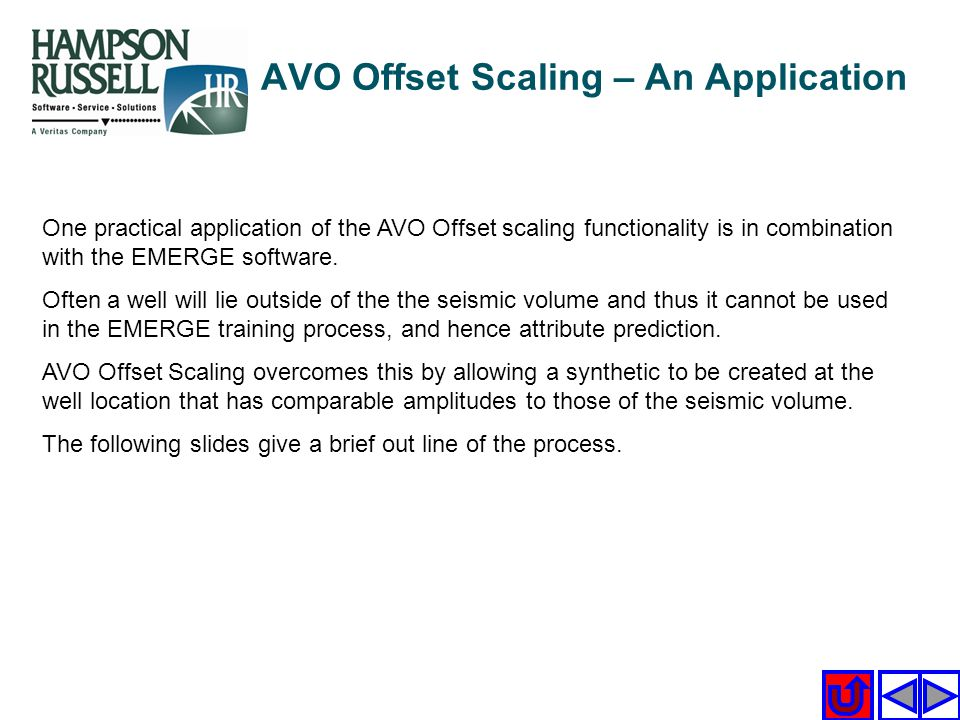 AVO Offset Scaling – An Application