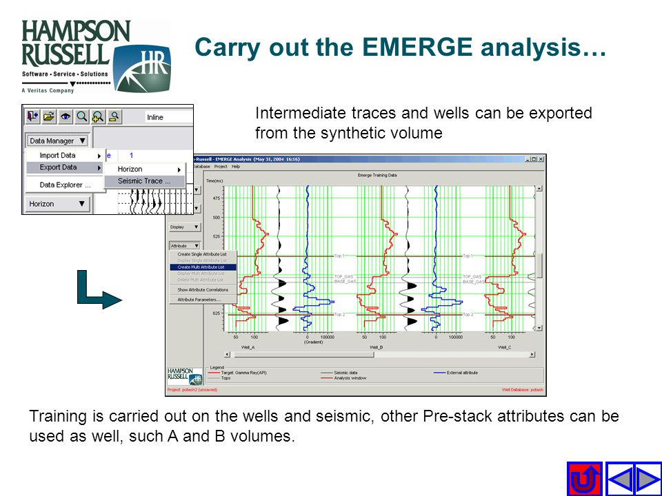 Carry out the EMERGE analysis…