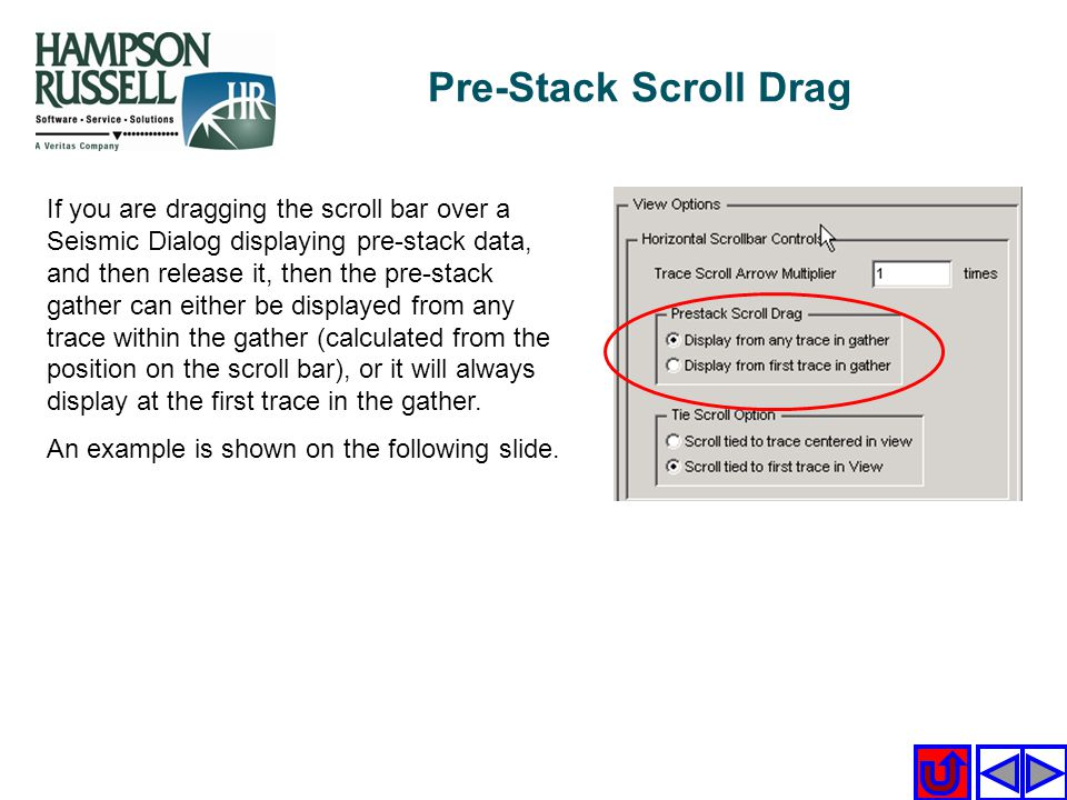 Pre-Stack Scroll Drag