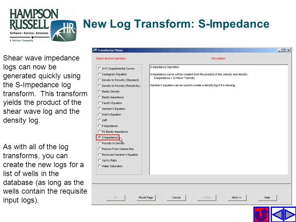 New Log Transform: S-Impedance