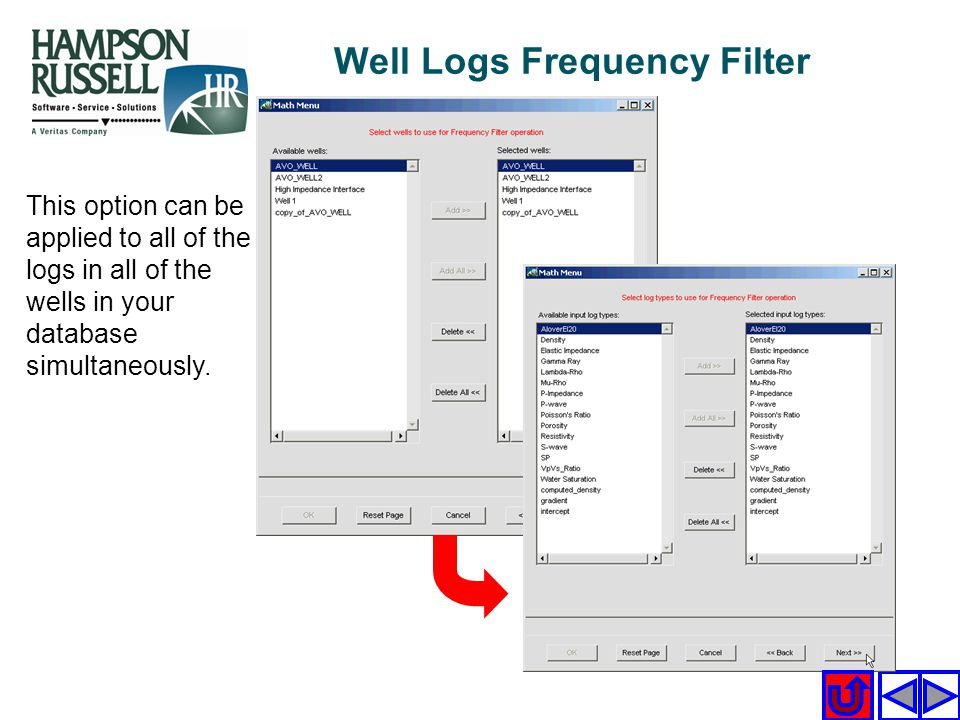 Well Logs Frequency Filter