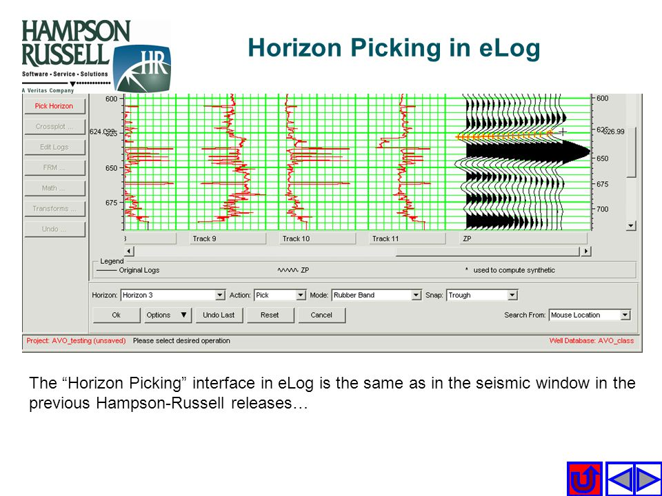 Horizon Picking in eLog