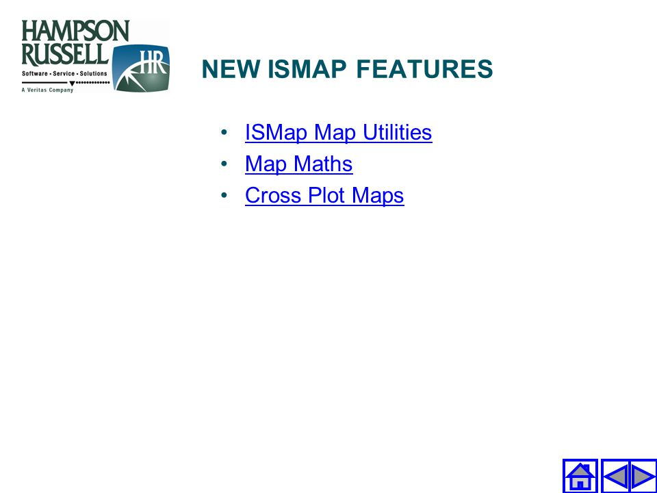 NEW ISMAP FEATURES ISMap Map Utilities Map Maths Cross Plot Maps