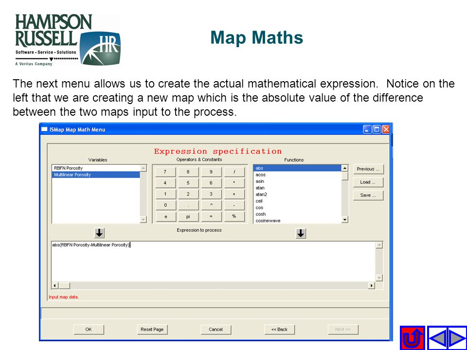 Map Maths