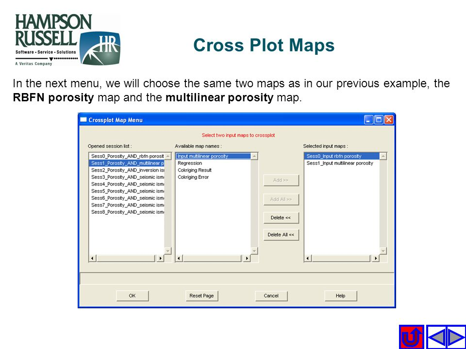 Cross Plot Maps