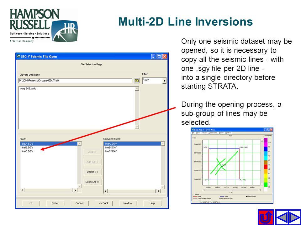 Multi-2D Line Inversions
