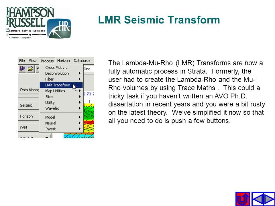 LMR Seismic Transform
