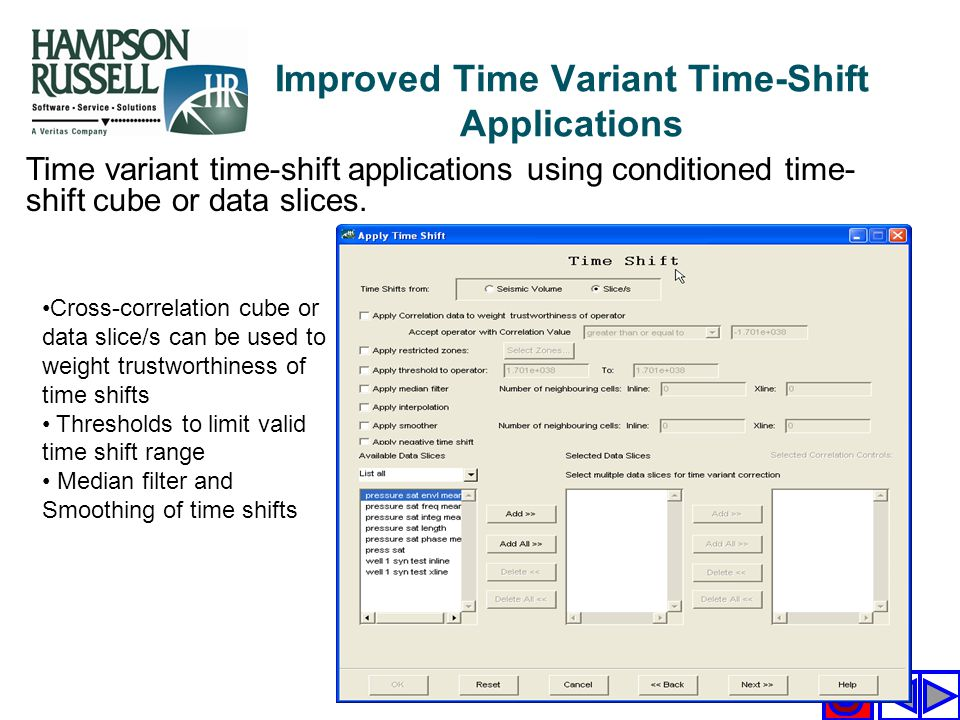 Improved Time Variant Time-Shift Applications