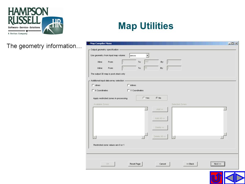 Map Utilities The geometry information…