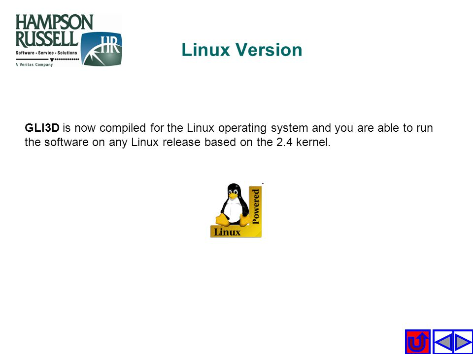 Linux Version GLI3D is now compiled for the Linux operating system and you are able to run the software on any Linux release based on the 2.4 kernel.