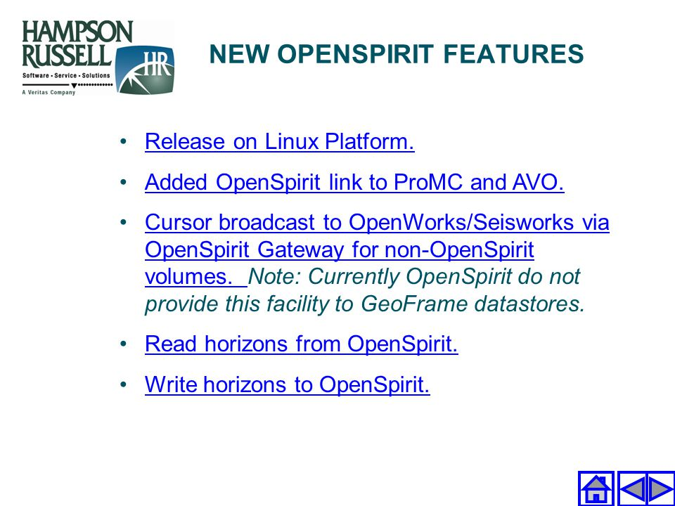NEW OPENSPIRIT FEATURES