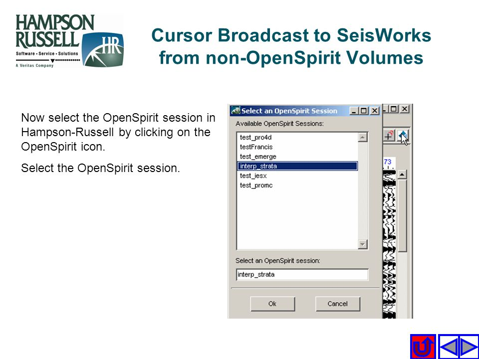 Cursor Broadcast to SeisWorks from non-OpenSpirit Volumes
