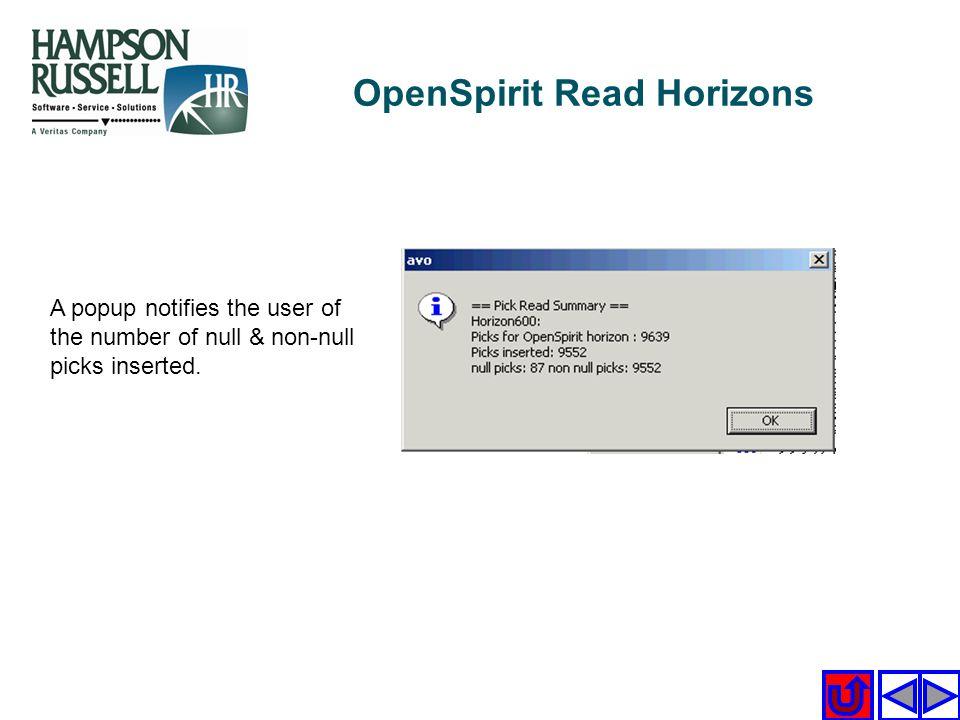 OpenSpirit Read Horizons