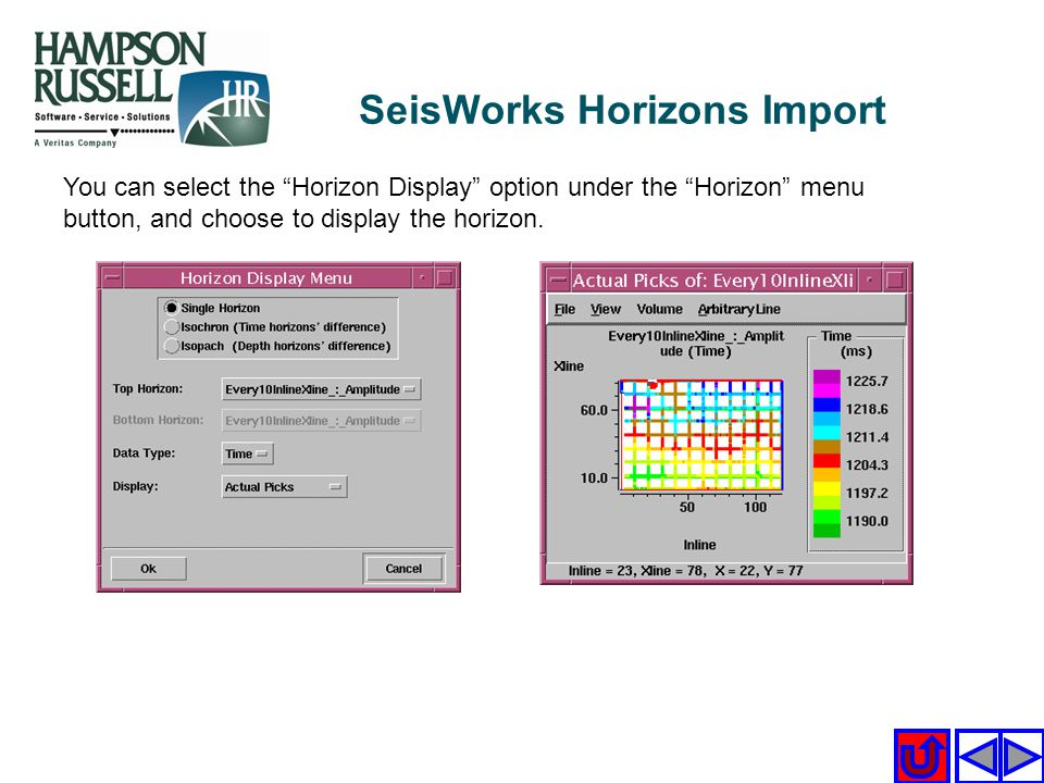 SeisWorks Horizons Import