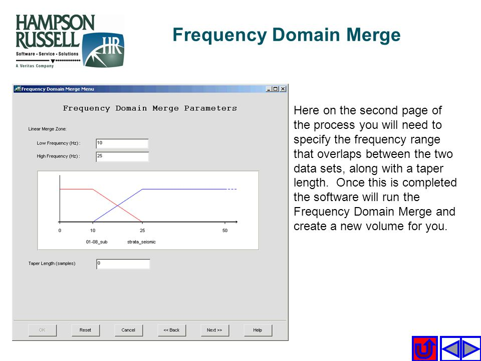 Frequency Domain Merge
