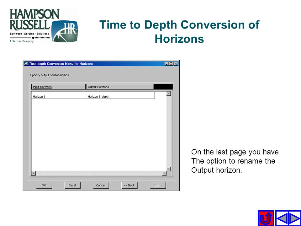 Time to Depth Conversion of Horizons