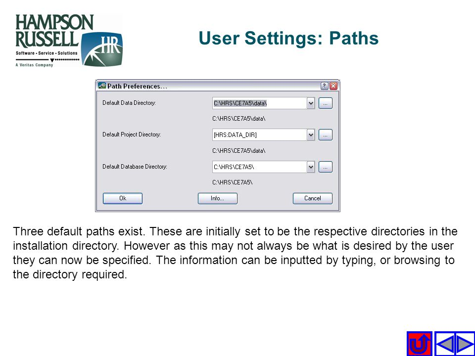 User Settings: Paths