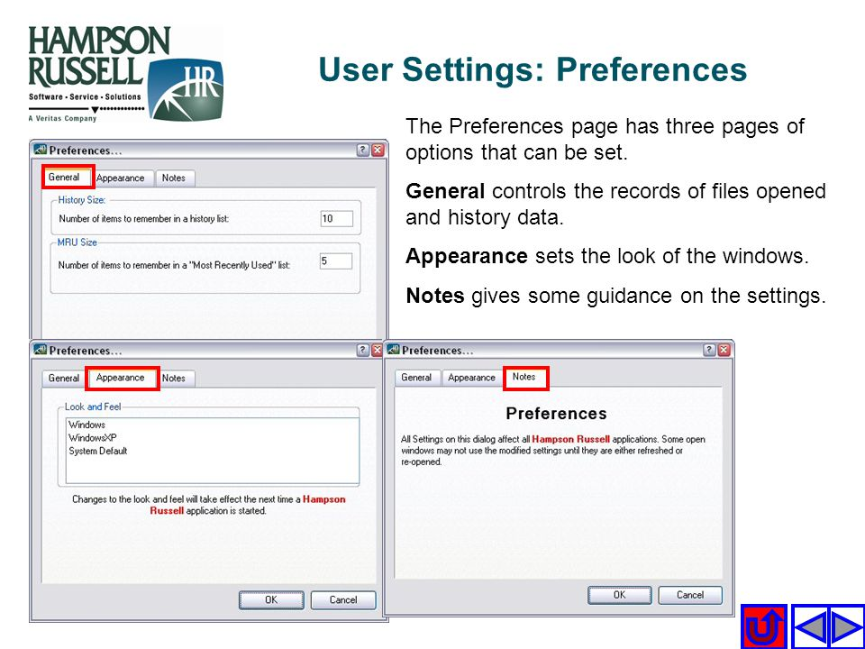 User Settings: Preferences
