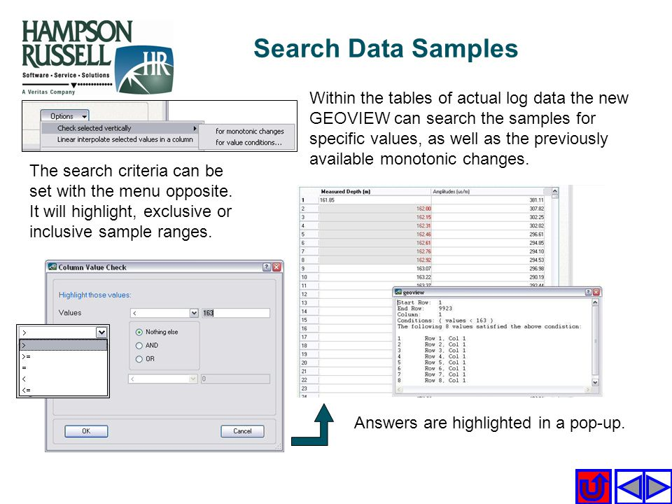 Search Data Samples