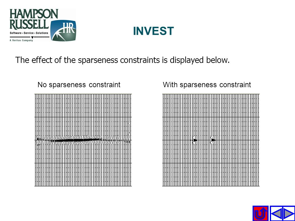 INVEST The effect of the sparseness constraints is displayed below.