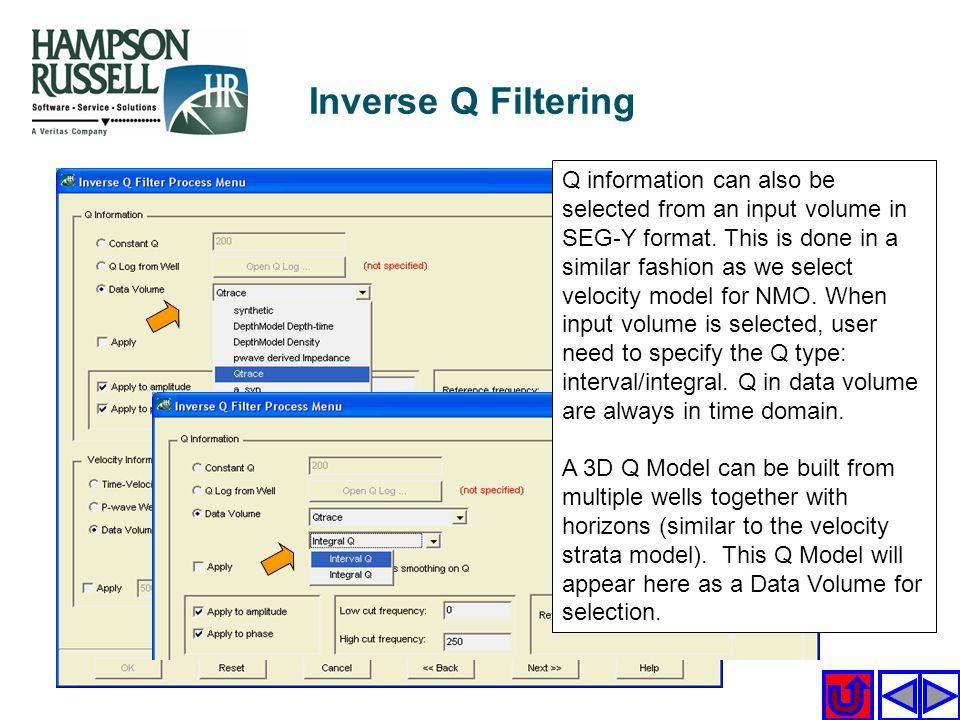 Inverse Q Filtering
