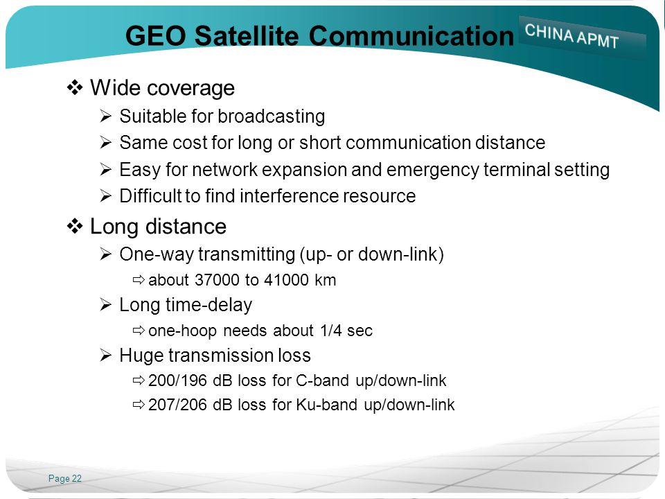 GEO Satellite Communication
