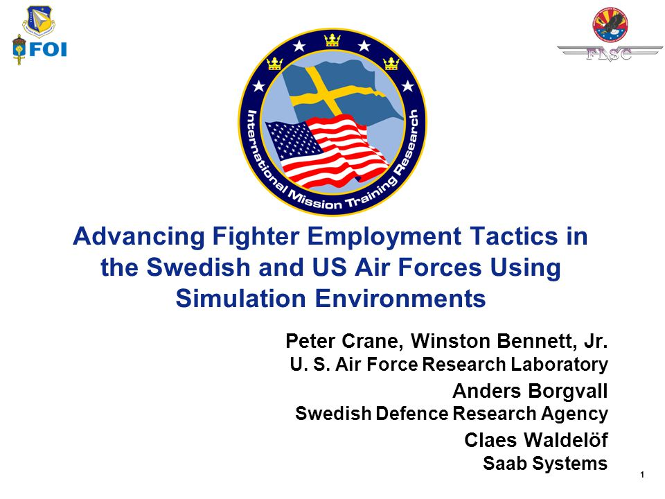 Advancing Fighter Employment Tactics in the Swedish and US Air Forces Using Simulation Environments