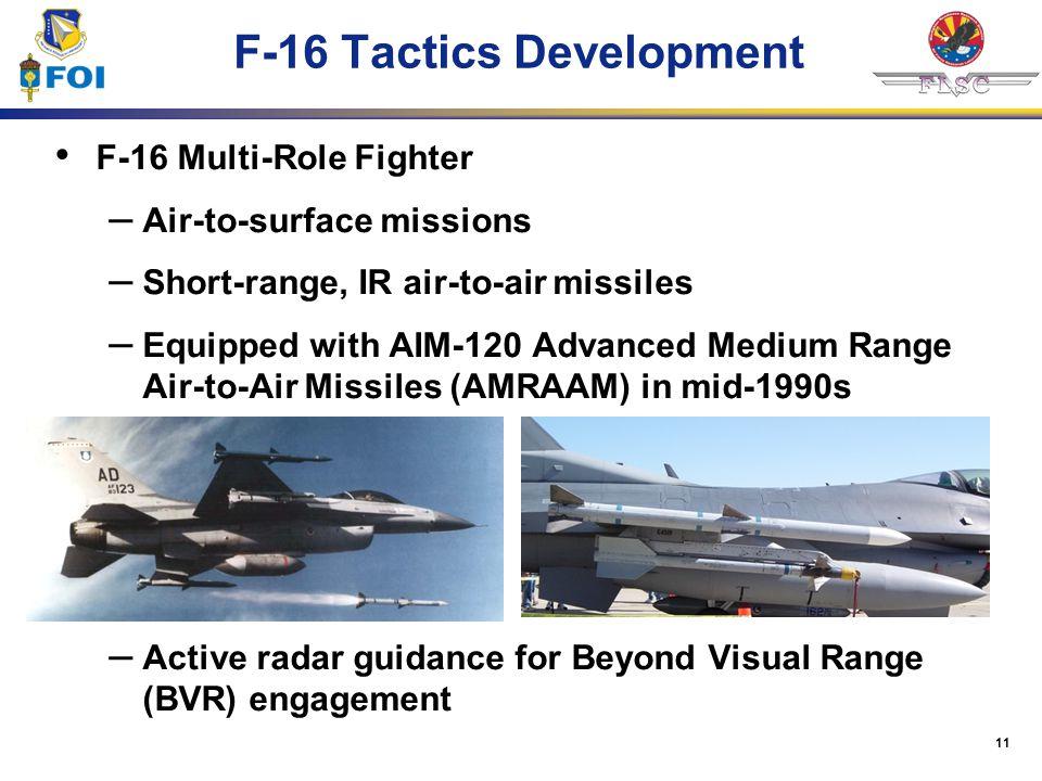 F-16 Tactics Development