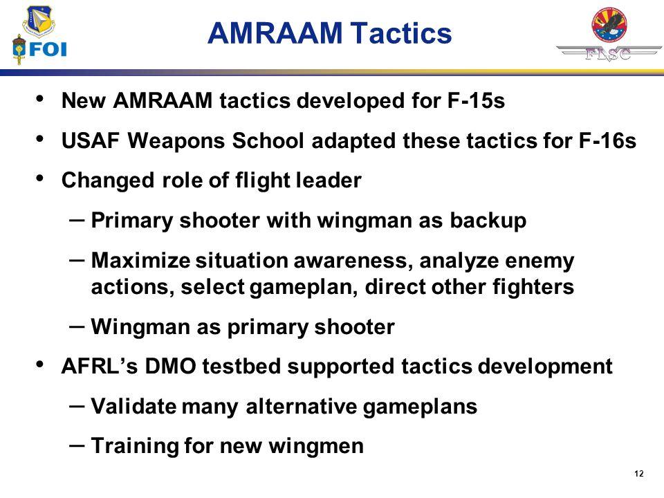 AMRAAM Tactics New AMRAAM tactics developed for F-15s