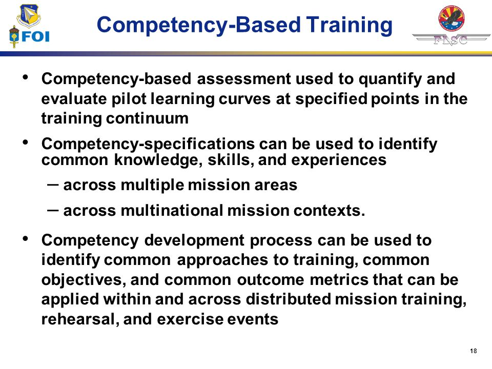Competency-Based Training