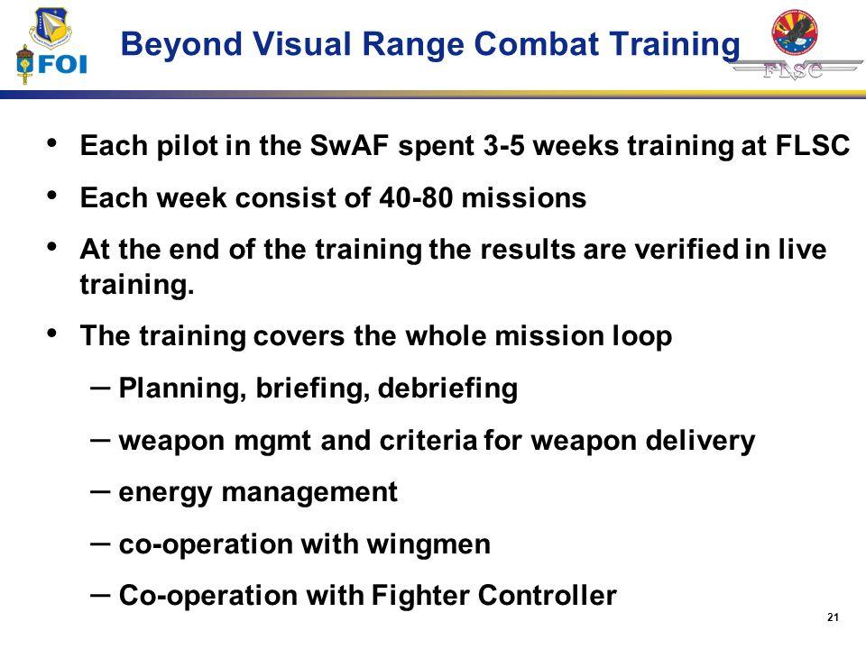 Beyond Visual Range Combat Training