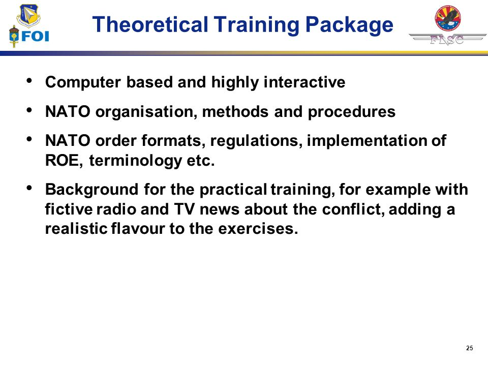 Theoretical Training Package