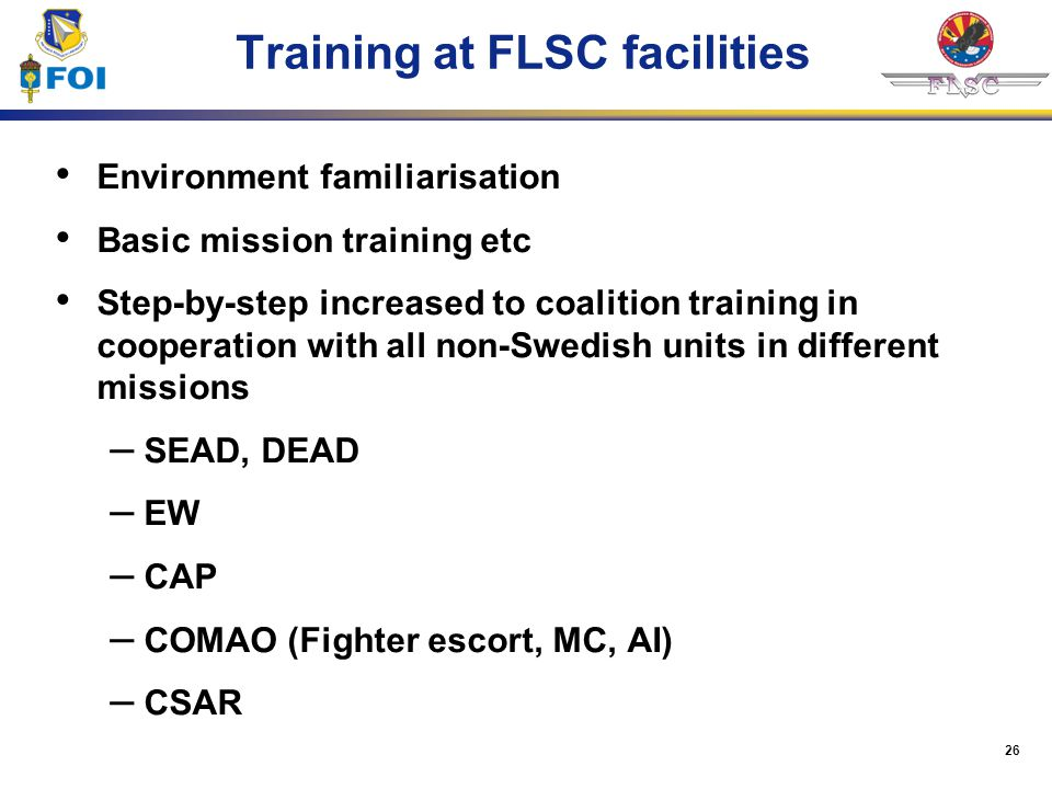 Training at FLSC facilities