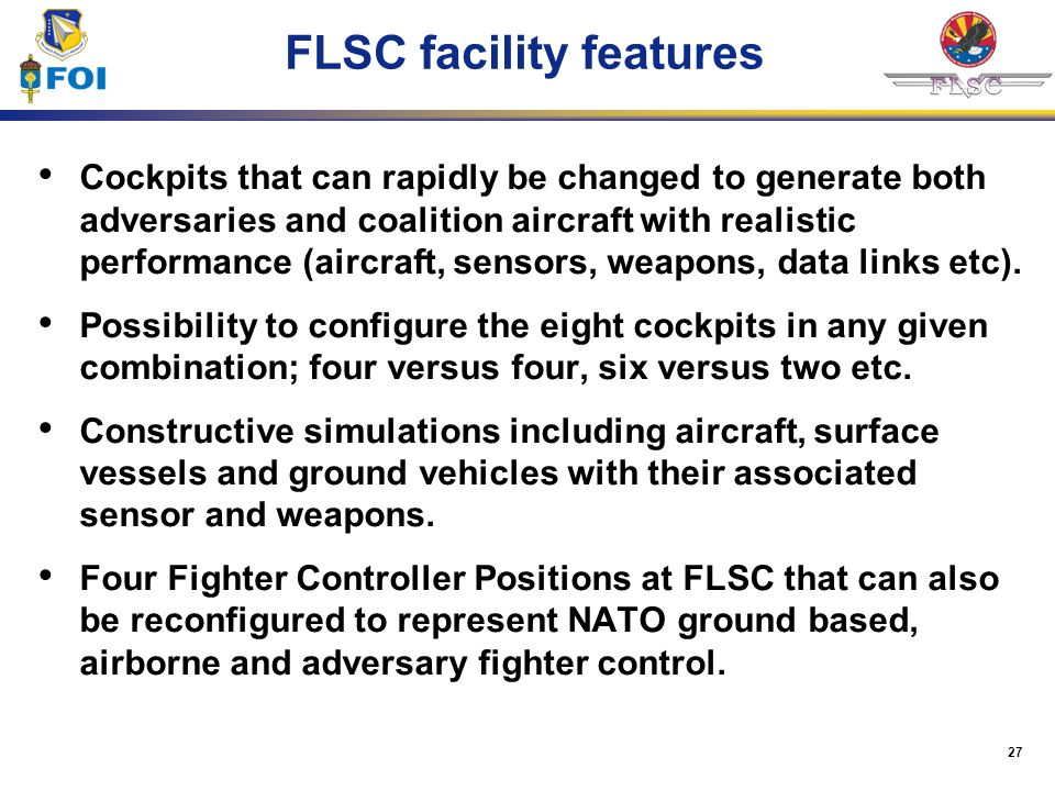 FLSC facility features