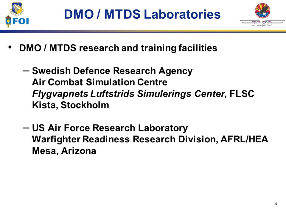 DMO / MTDS Laboratories