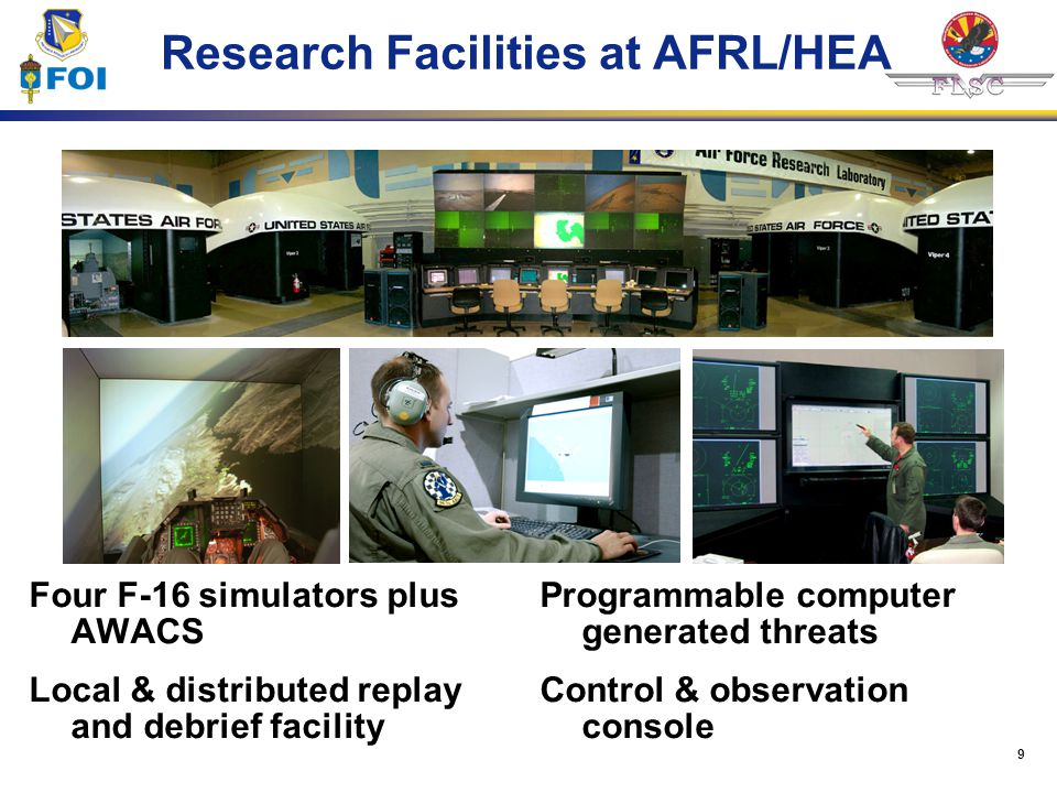 Research Facilities at AFRL/HEA