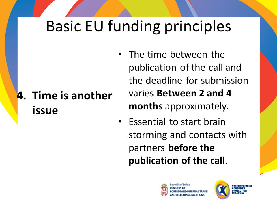Basic EU funding principles