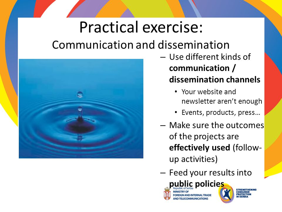 Practical exercise: Communication and dissemination