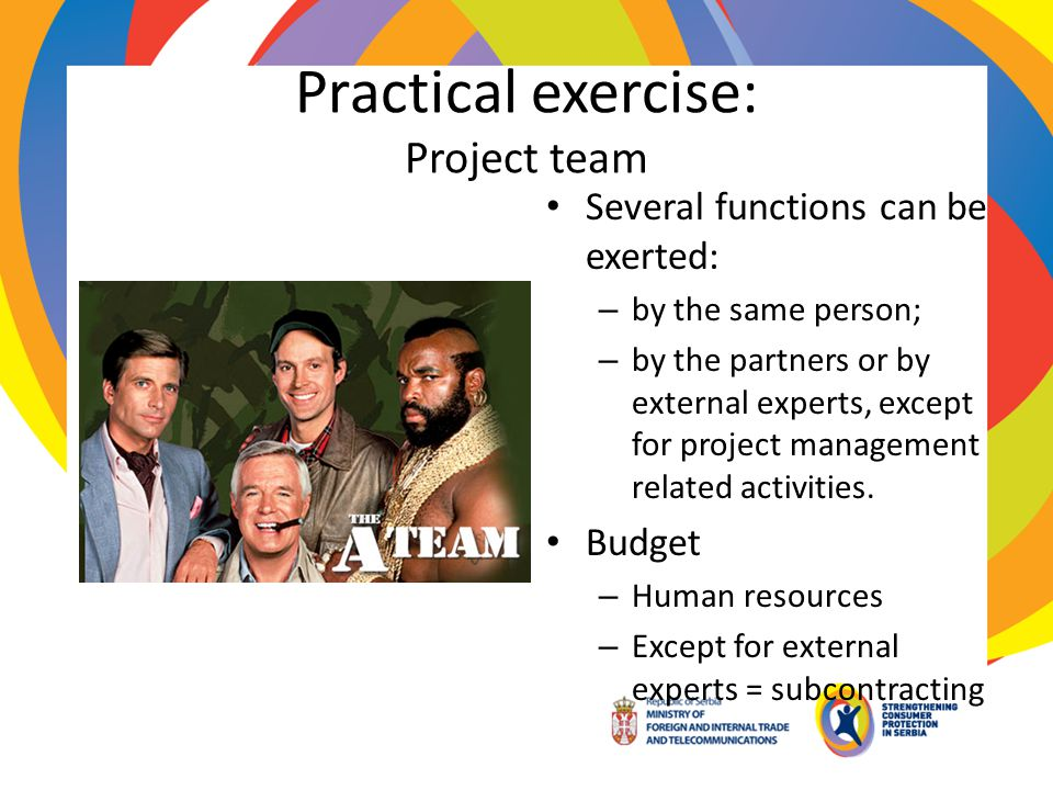 Practical exercise: Project team
