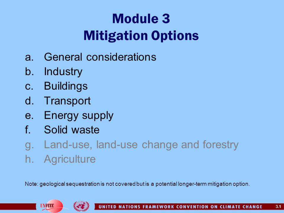 Module 3 Mitigation Options