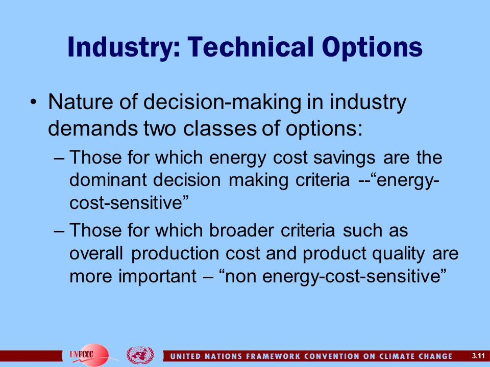 Industry: Technical Options