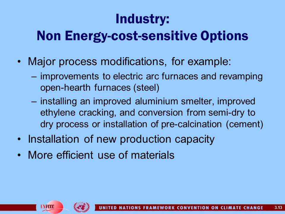 Industry: Non Energy-cost-sensitive Options
