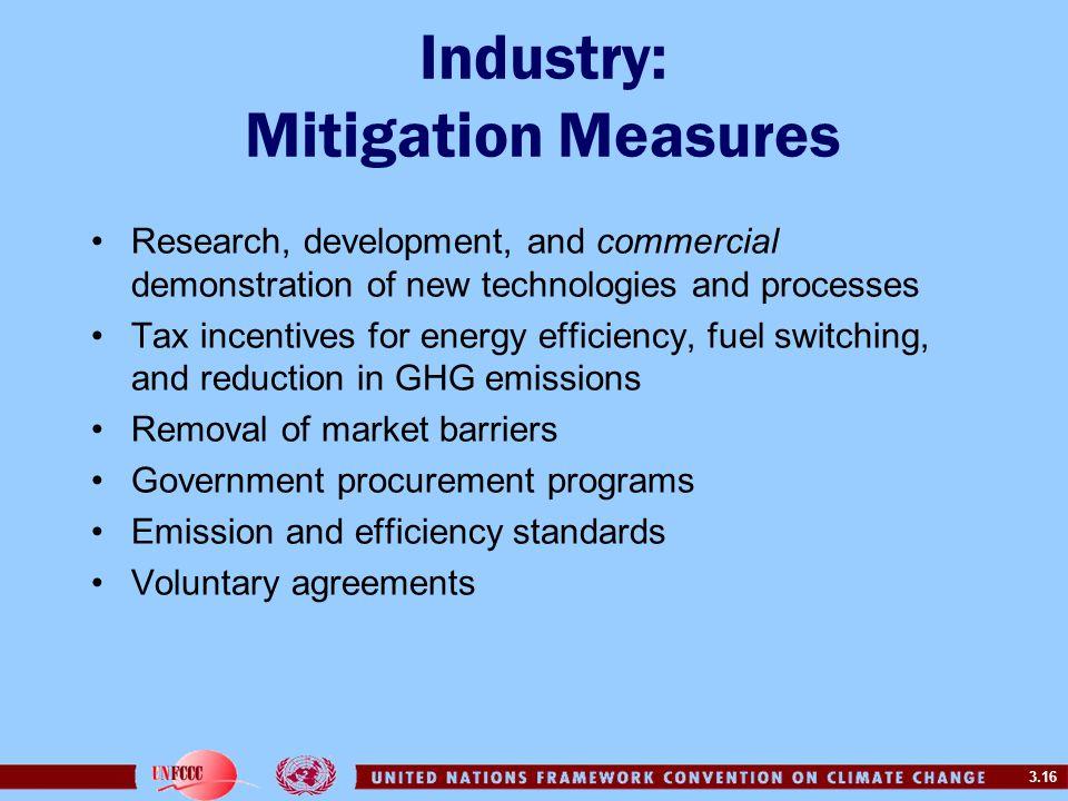 Industry: Mitigation Measures