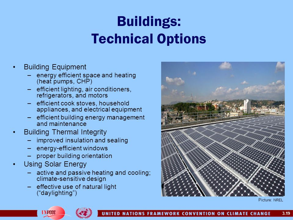 Buildings: Technical Options
