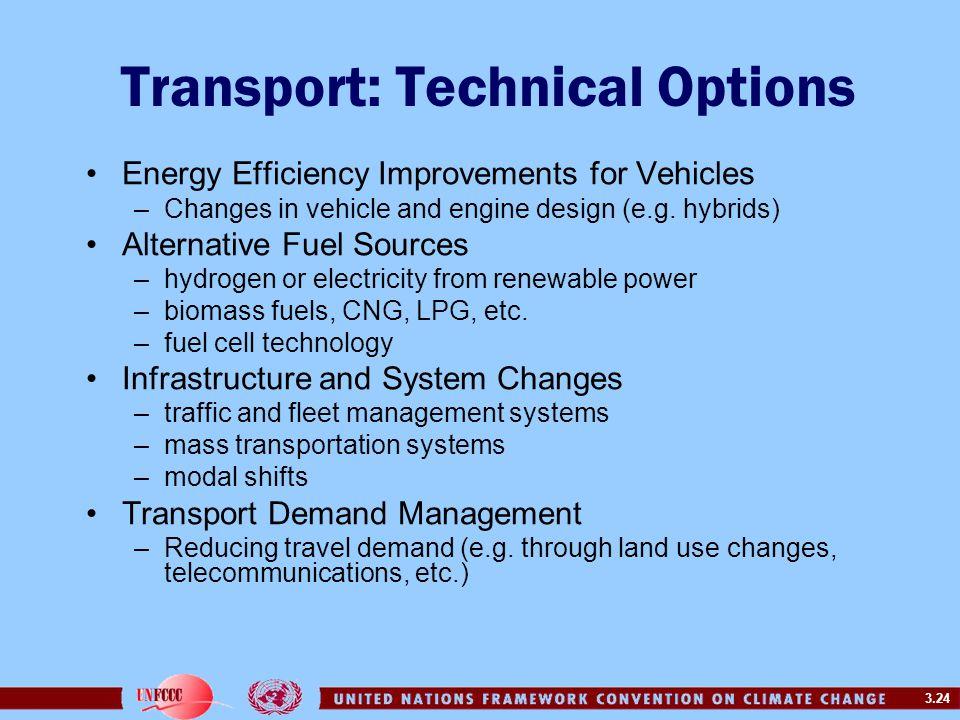 Transport: Technical Options