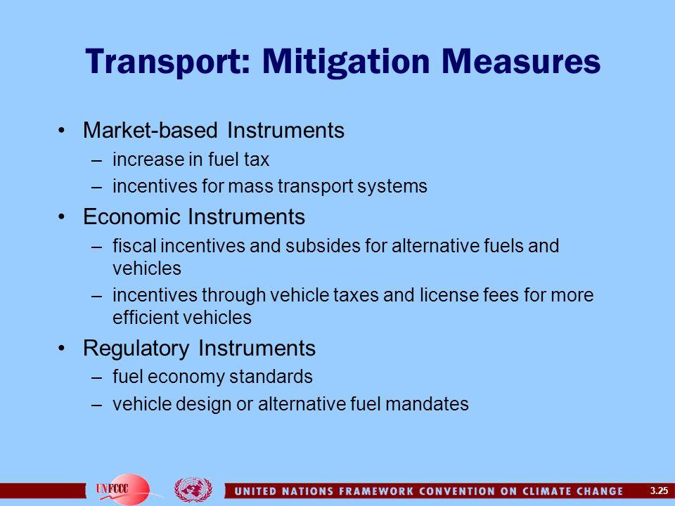 Transport: Mitigation Measures